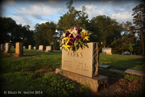 headstone, flowers, summer