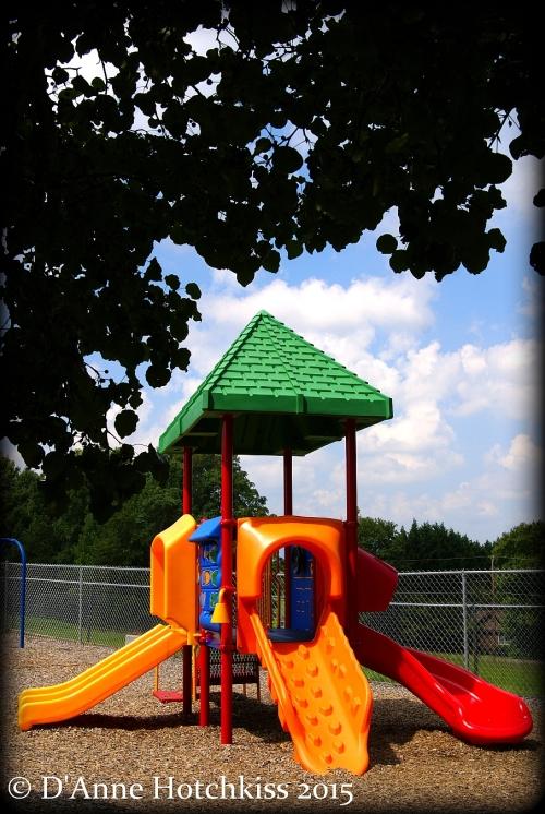 toddler slide at playground