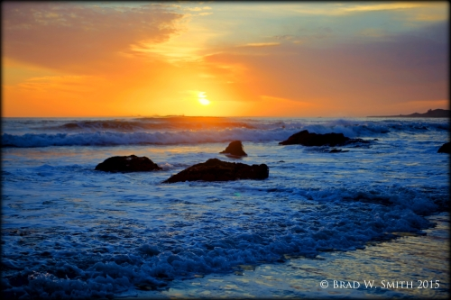 Brad W. Smith photographer, Have you watched enough sunsets? truth, commitment, Live HOT, sunset across the Pacific Ocean,